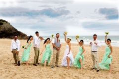 wedding party, on Burleigh Beach