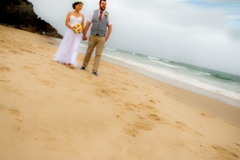 wedding photo on Burleigh beach