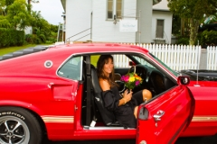 Bride in the Mustang