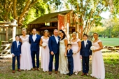 whole bridal party at Boomerang Farm-AFFORDABLE WEDDING PHOTOGRAPHY GOLD COAST