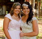 Bride with eldest daughter.