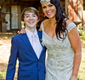 Yasmins eldest son and her at the Gold Coast wedding