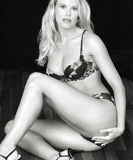 lingerie model black and white photo