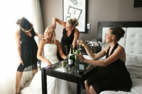 Danielle and the girls getting ready at Royal Pines Resort Gold Coast