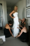 Danielle getting fixed by her brides maids