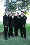 Chris and the 3 groomsmen photo by AFFORDABLE WEDDING PHOTOGRAPHY GOLD COAST