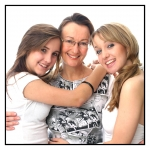 FAMILY PORTRAITS GOLD COAST-mother and two grown up daughters in our Palm Beach studio