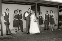 Bridal party at the homestead