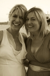 Kelly and her sister-sepia photo