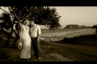 sepia shot with Burleigh in the background