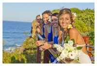 photo of bride with brides maids