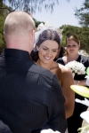 big smiles from Liz during the ceremony at Tugan on Gold Coast