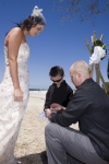 Liz and Aaron with their ring bearer