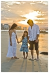 FAMILY PORTRAITS GOLD COAST-Mark family with vivid sunset behind