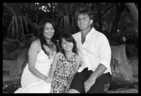 Mark family - close up black and white
