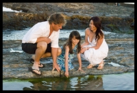 Mark family playing in the rock pools