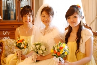 bride with the maids