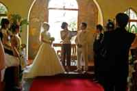 wedding service in the chapel