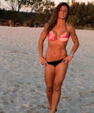 sunset shot of model at Currumbin Beach