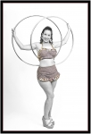 ginger hooping in studio