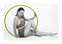 hula girl photo in studio