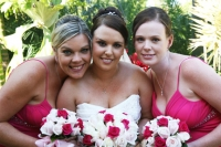 Nikki with her brides maids before