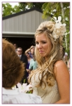 close up of the bride