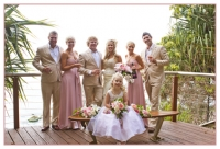 whole wedding party at Coolangatta