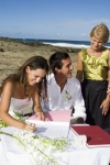 signing the register - the photo is looking down Currumbin Beach