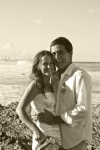 sepia wedding photo