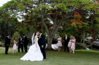 The landscape photo with the whole bridal party