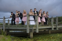 Bridal party - on the jetty at the Glades AFFORDABLE WEDDING PHOTOGRAPHY GOLD COAST