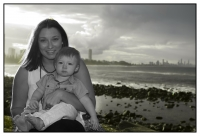 FAMILY PORTRAITS GOLD COAST-mother and young son at Burleigh Beach