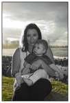 mum and Sylas-artistic black and white and colour photo
