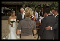 Felicity walking down the aisle with her father