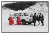 The bridal party in the sand dunes, AFFORDABLE WEDDING PHOTOGRAPHY GOLD COAST