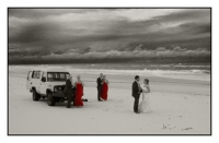moody coastline-the whole wedding party