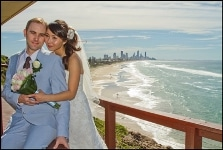 Gold Coast Wedding Photography-Couple on burleigh hill on beautiful day