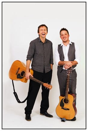 wedding entertainment duo with guitars