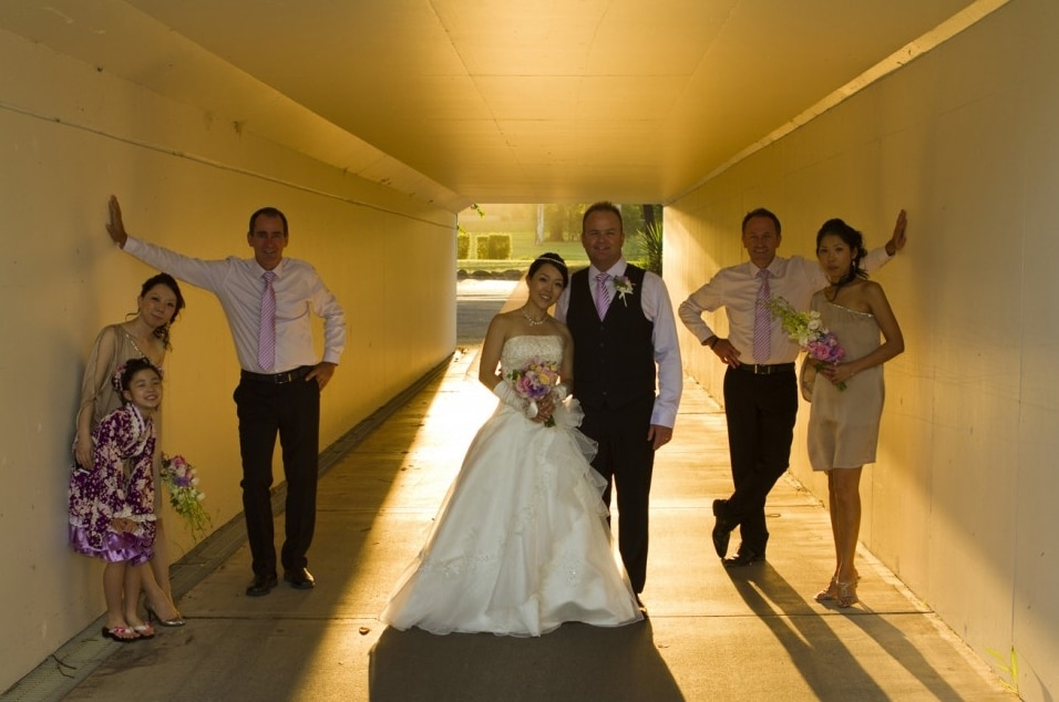sunset photo in a tunnel at Arundel Hills Country Club